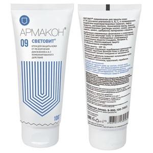 Крем для защиты кожи от УФ излучения диапазонов А, В, С (комбинированного действия) 09 СВЕТОВИТ