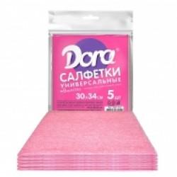 Салфетка Dora вискозная, 5 шт 30*34 см