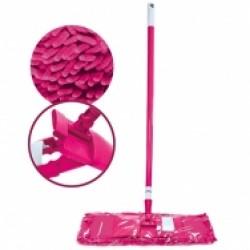 Швабра для пола Dora телескопическая с насадкой из микрофибры шенилл
