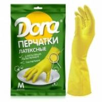 Перчатки Dora латексные универсальные с хлопковым напылением