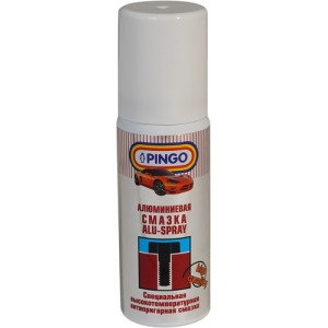Алюминиевая смазка (от -40°С до +1100°С) аэрозоль 50 мл PINGO