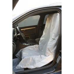 Полиэтиленовые чехлы для сидений белые, размер 79 х 130 см экстра (12 мкрн) рулон 250 шт PINGO