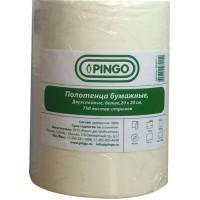 Бумага 2-х слойная отрывная белая PINGO 20 х 20 см рулон 750 отрывов PINGO